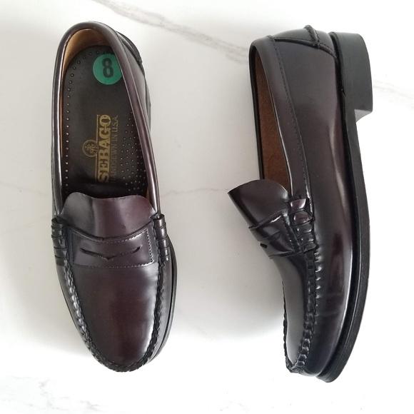 Sebago Penny Loafers Shoes Burgundy